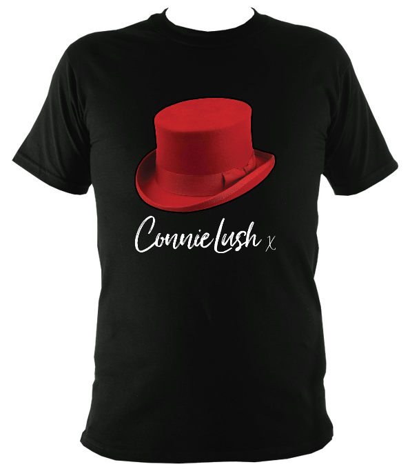No.6: Ms Connie's Red Top Hat & Autograph (Black T-shirt)