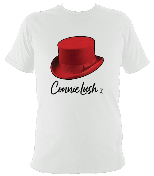 No.7: Ms Connie's Red Top Hat & Autograph (White T-shirt)